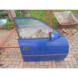 Tür vorne rechts Opel Astra F Y285 blau