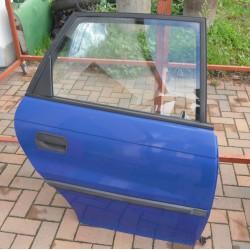 Tür hinten rechts Opel Astra F Y285 blau